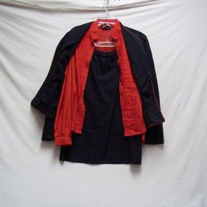 Red and Black Outfit Size 9/10